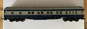 Assembled HO Scale Athearn Baltimore Ohio Pullman Car - 1865 Martha Washington