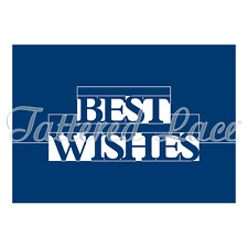 Tattered Lace BEST WISHES POP UP WORD Essentials Cutting Die ETL216 FREE UK P&P