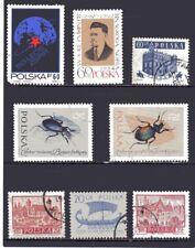 ~ 8 Stück ~ verschiedene Briefmarken ~ POLSKA ~