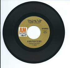 "1970 CARPENTERS ""CLOSE TO YOU"" 45rpm 7"""