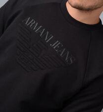 ARMANI Mens DESIGNER Sweatshirt Jumper Sweater 3y6m03 Black Navy XS - XXXL 2xl Navy Blue