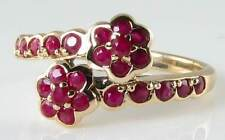 Yellow Gold Ruby Ring Vintage Fine Jewellery