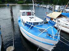 8m Diesel Kajütboot, Motorboot Stahlboot Verdränger Motoryacht Kutter LP Kiel