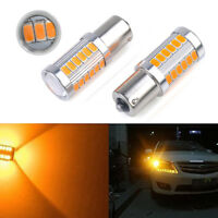 2pcs Amber P21W 1156 BA15S  LED Bulb 5730 SMD Super Bright Car Light bulb