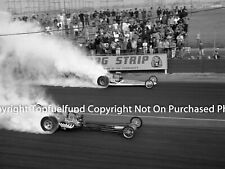 Tom McEwen Yeakel vs Warren Coburn Warren Dragster at Lions Dragstrip 8x10 NHRA