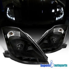 For 2006-2009 350Z LED Signal Projector Headlights Head Lamps Black