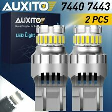 AUXITO 2X 23CHIP 7443 7440 LED Tail Brake Stop Light Bulb White 6000K 2400LM EAA
