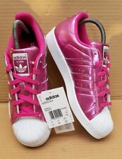 the best attitude c1f7f 93acb BNIB GORGEOUS ADIDAS SUPERSTAR WHITE AND ICE PINK TRAINERS SIZE 6 UK RARE  NEW