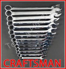 Craftsman Hand Tools 14pc Full Polish Sae Combination Wrench Set !