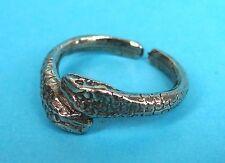 Roman Snake Ring In Fine Pewter