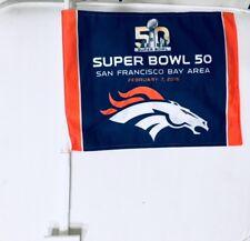 Denver Broncos Super Bowl 50 San Francisco Bay Area Car Window Flag Brand New