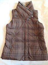 Women Columbia Sportswear Down Winter Vest Puffer Jacket Brown Plaid Coat Medium
