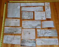 Natural Birch Bark Sheets Pieces - 4 SQ FT - 15pcs