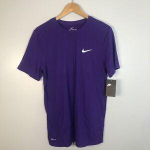 The Nike Tee Mens Size Medium Purple Dri-Fit Athletic Cut Shirt NWT $25