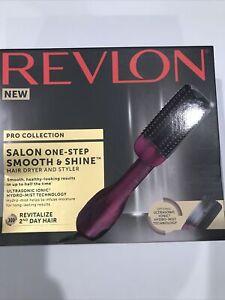 REVLON Pro Collection Salon One-Step Smooth & Shine Hair Dryer Styler Hydro-Mist