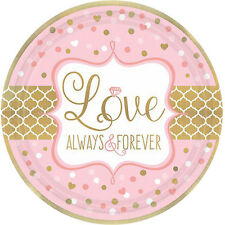 SPARKLING WEDDING SMALL PAPER PLATES (8) ~ Birthday Party Supplies Cake Dessert