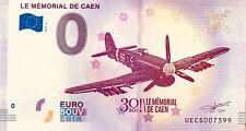 BILLET 0 EURO SOUVENIR TOURISTIQUE LE MEMORIAL DE CAEN 2018-2