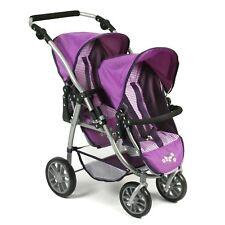 Bayer Chic 2000 Tandem-Buggy VARIO Purple Checker TOP