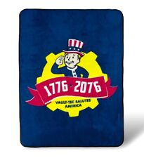 New Blue Fallout Vault Boy Plush Throw Gift Blanket Role Playing Game 1776 Soft
