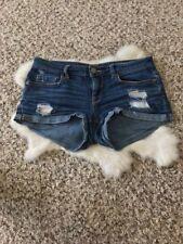 Aeropostale Woman Short Pant Jeans Shorty Stretch Cotton Spandex Blue Sz 2