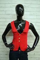 Maglione Cardigan DIESEL Donna Pullover Taglia S Sweater Smanicato Lana Rosso
