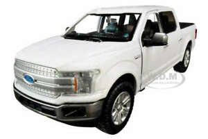 2019 FORD F-150 LARIAT CREW CAB PICKUP WHITE 1/24-1/27 DIECAST BY MOTORMAX 79363