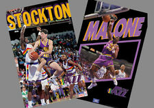 John Stockton and Karl Malone Utah Jazz OLD-SCHOOL POSTER COMBO (2 Posters)