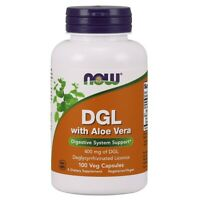 NOW Foods DGL with Aloe Vera 100 Veg Capsules FREE SHIPPING. MADE IN USA