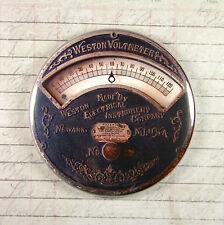 Printed Weston Voltmeter Gauge Magnet #2 - Steampunk Electrical Current Gears