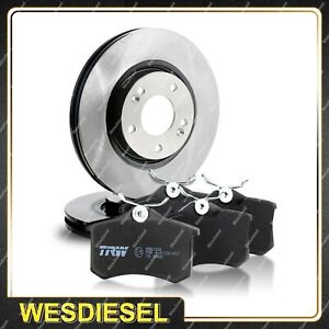 Front TRW Disc Rotor Brake Pads fits Ford Telstar AT 2.2L 84KW 100KW 1987 - 1990