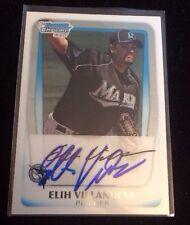 ELIH VILLANUEVA 2011 TOPPS BOWMAN Autographed Signed AUTO Baseball Card BCP69