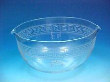 ANTIQUE VICTORIAN GREEK KEY DESIGN GLASS WINE RINSER POLISHED PONTIL DOUBLE LIP