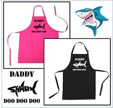 Shark Doo Doo Doo Daddy Grandad Uncle Brother Sister birthday personalised apron