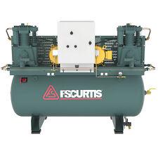 FS-Curtis CA7.5 7.5-HP / 15-HP 120-Gallon UltraPack Two-Stage Duplex Air Comp...