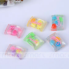 10PCS Mixed Candy Cartoon Resin Flatback Cabochon For Craft Decoration 1.7x2.5cm
