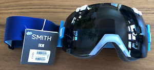 NEW Smith IOX I/OX Snow Goggles-Clear Klein Blue-Chromapop Sun Black+CP Rose