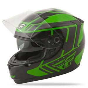 Fly Racing 73-8415 Conquest Full Face Motorcycle Helmet Green/Black - Adult