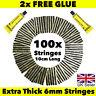 100x Tubeless Tire Tyre Puncture Repair Kit Strips Plug Car Van Truck Bike