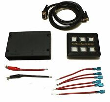 6 way 12V 24V 10A DC Relay Switch Panel Touch Control 4WD Caravan RV Indoor