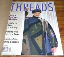 THREADS Magazine Jan 1996 # 62 Coat in a weekend / Ribbon Embroidery