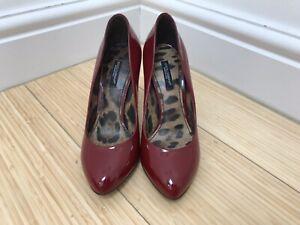 BNIB Dolce & Gabbana DECOLLETE VERNICE Red Patent Leather Pumps Courts IT36 /UK4