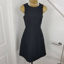 Coast Culture Dress Midi Mathilde High Low Boat Sleeveless Black Size UK 8 R