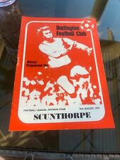 Darlington V Scunthorpe 1975 Soccer/football Programme