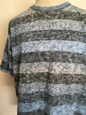 VTG 80s ~ U OTTA WEAR! OVERSIZED STRIPED TEE ~ Blue/Gray ~ L-XXL ~ Surf ~ Skate