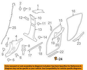 BMW OEM 03-16 Z4 Interior-Scuff Plate Clip 51471840960
