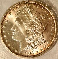 1884-O MORGAN SILVER DOLLAR GEM~UNCIRCULATED~NICE TONING!! DASH(-) UNDER 2nd 8