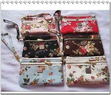 Anna Sui Rose Style Double Zipper Coin Purse/Handbag