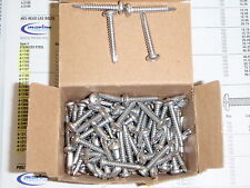 "STAINLESS STEEL SCREWS SELF DRILLING MARINE BOAT #10 X 1-1/4"" 4 92108 BOX 100"