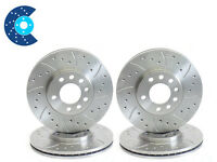 DRILLED GROOVED BRAKE DISCS FRONT REAR EVO 5 6 7 8 9