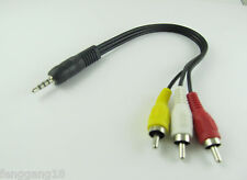 """1x 3.5mm 1/8"""" Stereo Male Plug to 3x RCA Phono Male Audio Video AV Adapter Cable"""
